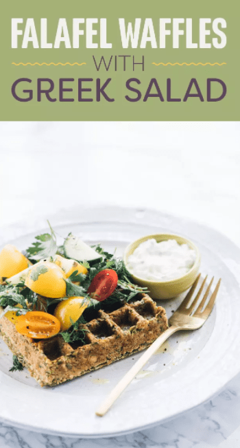 If you love waffles but want to switch up your usual berry and whipped cream-drenched waffles for something more savory, try this falafel-based recipe. Get the recipe here. Protein: 23.9g