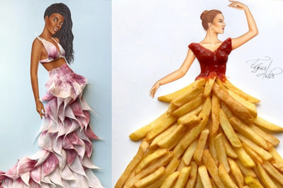 This Instagram Artist Creates Fashion From Food And UGH I Want A     This Instagram Artist Creates Fashion From Food And UGH I Want A French Fry  Dress