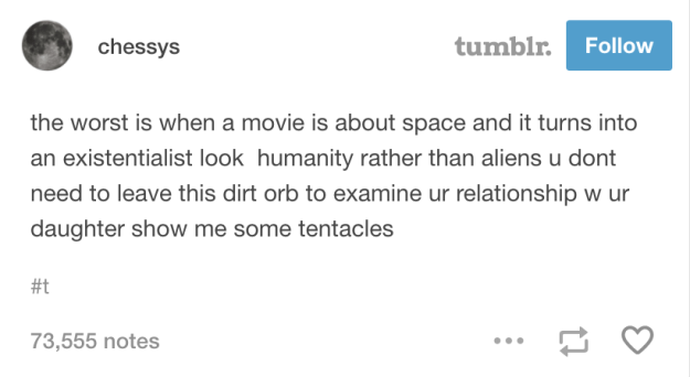 On space movies that don't have enough space: