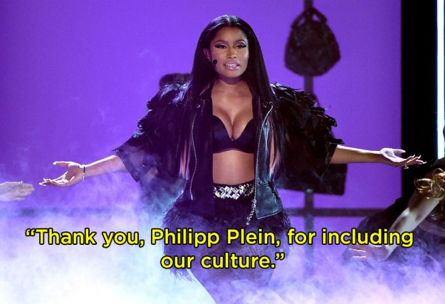 """First, she thanked the designer """"for including our culture."""""""