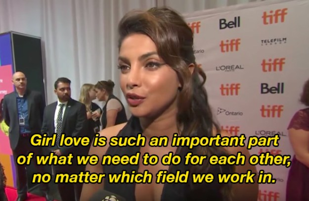 "She spoke about the importance of ""girl love""."