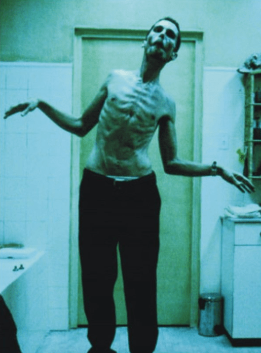 Whether he's playing an insomniac factory worker in 2004's The Machinist.