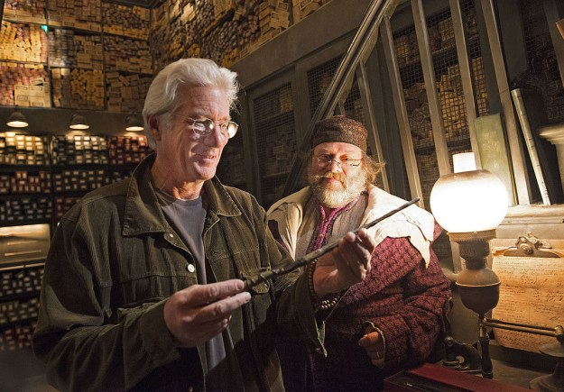 Richard Gere finding out which ~wand chose him~ at Ollivanders.