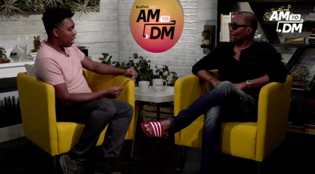 The critically acclaimed writer, producer, and director doesn't hold his tongue about social justice issues, and his appearance on BuzzFeed's Twitter morning show, AM to DM, on Thursday was no different.