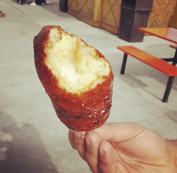 What it is: The most popular food at any Midwestern state fair ranging from Twinkies to butter (yep, deep-fried butter on a stick is a thing).What it's not: Healthy ―but that's not really the point.Check out even more Midwestern state fair food here.