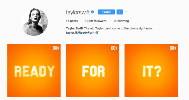 And today, Swift hinted at the release of a new song by posting these videos on Instagram.
