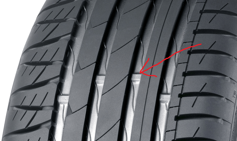 Their purpose: These markings are the tread wear indicators. And as the name says, they tell you whether a tire worn out or not, depending on how close they are to the surface of the tire.