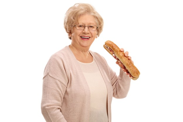 Anyway, I like to treat BuzzFeed like a Planet Fitness. It's a judgment free zone. So, like mom said, if you don't have anything nice to say then you should share a picture of an elderly woman holding a sub.