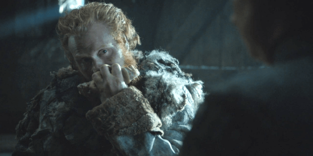 Because, while we all know the ginger-bearded Wildling babe loves to stare VERY intensely at Brienne on the show, it turns out actor Kristofer Hivju (IRL Tormund) really loves to creep Christie out between takes, too!