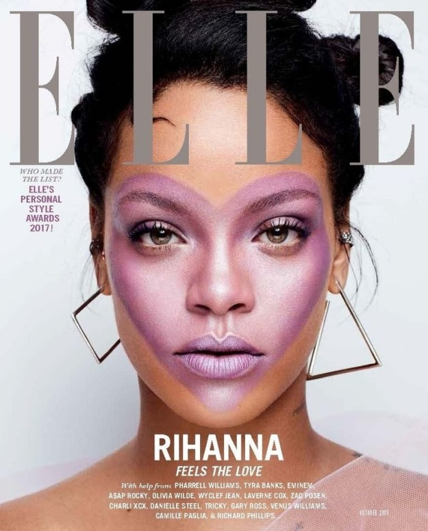 You may or may not know this, but Rihanna is on the cover of Elle magazine's October issue.