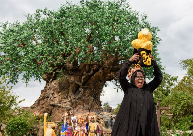 Whoopi Goldberg doing her Lion King thing in Disney's Animal Kingdom.