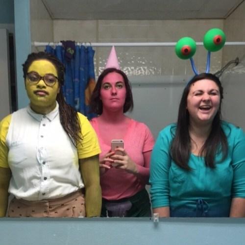 SpongeBob, Patrick, and Gary: