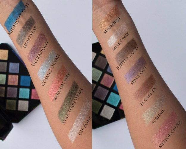 Here are all the swatches on @lucinda212 so you can ~really~ see the pigment!!!
