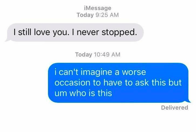 And at least you didn't get this text: