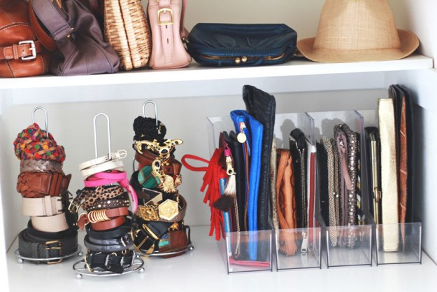 Have you repurposed something mundane, like paper towel holders, for something more ~glamorous~, like accessory storage?