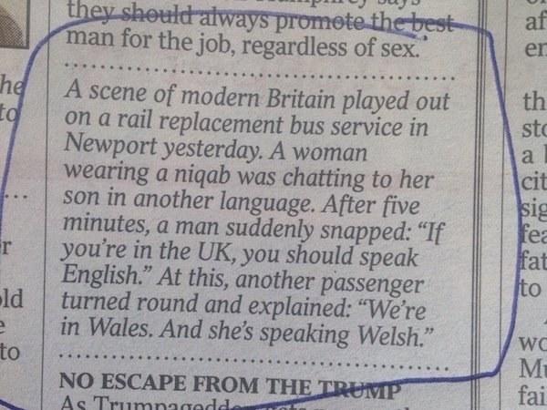 The English speaker: