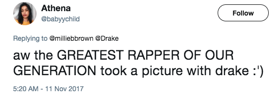 And of course people had jokes, considering that Millie is a pretty ample rapper herself.