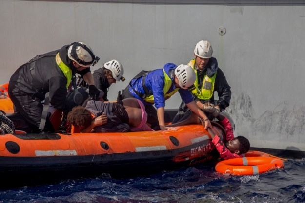 """""""Nobody would have had to die today if only we had the possibility to operate reasonably in a calm environment,"""" the Sea Watch spokesperson told the Daily Mail."""