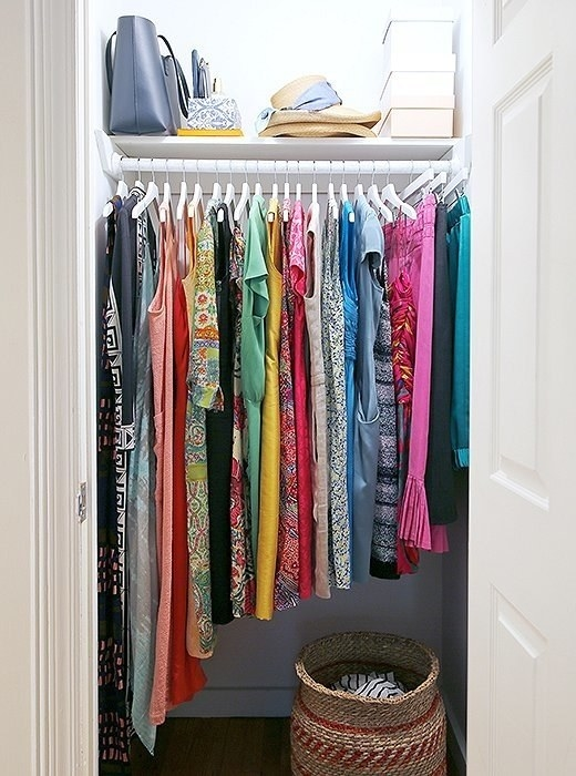 Maybe you just wanted to make your closet more user-friendly, and just organized by color, occasion, or height.