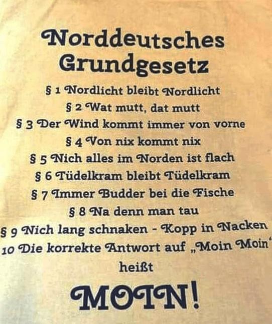Moin Also Ich Bin Vorbereitet Norddeutscher Humor