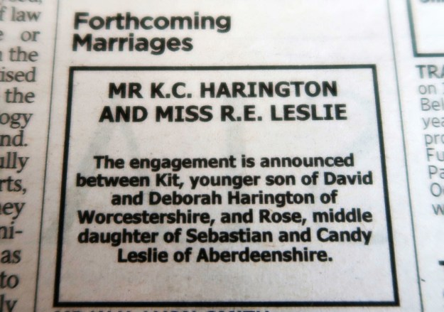 Honestly, the print industry was pretty much single-handedly saved by their wedding announcement: