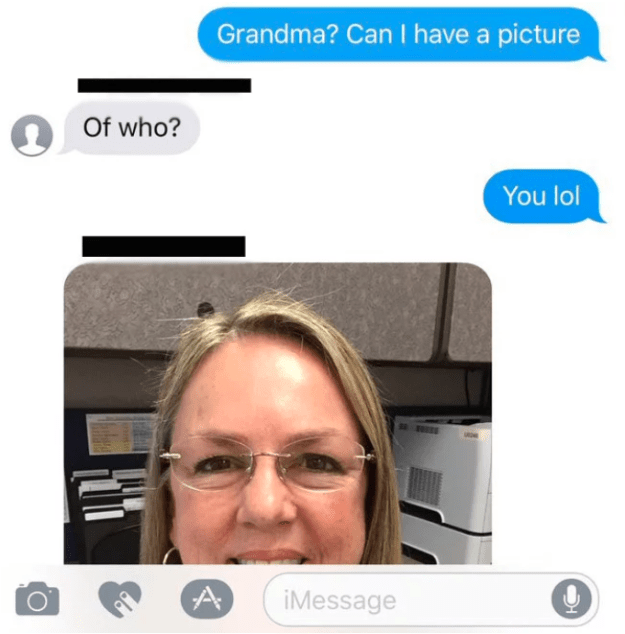 """He asked for a photo of the woman who was identifying herself as """"his grandma""""..."""