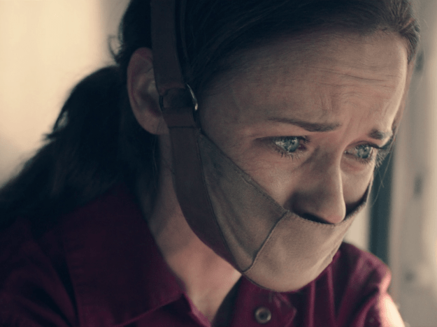 When Ofglen was arrested on The Handmaid's Tale and we watched her wordless struggle.
