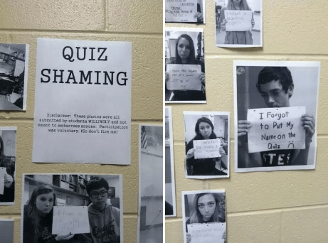 And these students, who were put on the wall of shame: