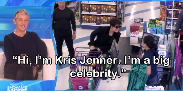 The segment had EVERYTHING you could possibly want and more, from Kris Jenner announcing her presence to the cashier...