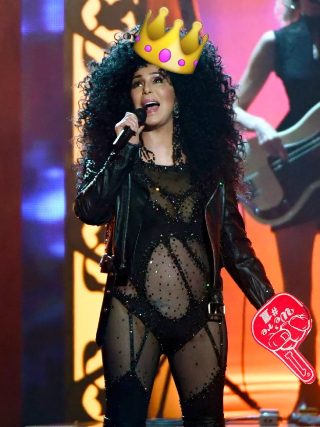 But more important than all that, it's the day that Cher made emoji history.