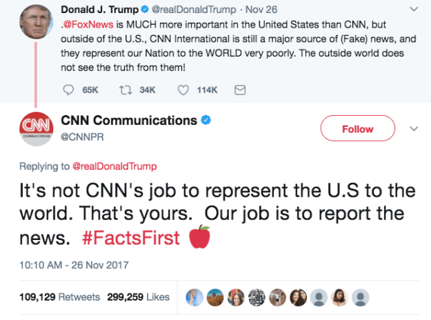 When CNN administered this truth bomb to Trump: