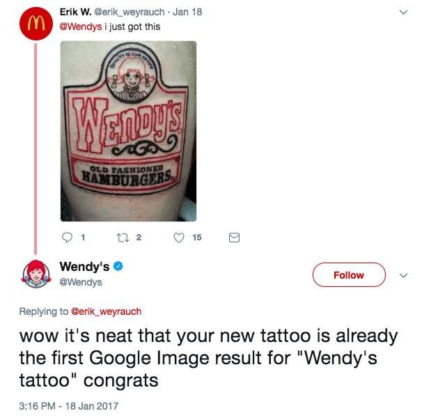 The Wendy's fan: