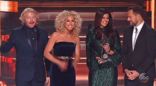 Little Big Town genuinely thanked Swift in their acceptance speech, too.