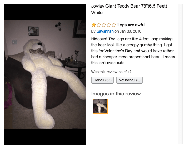 This Giant Teddy Bear Has Ridiculously Long Legs And People Can T