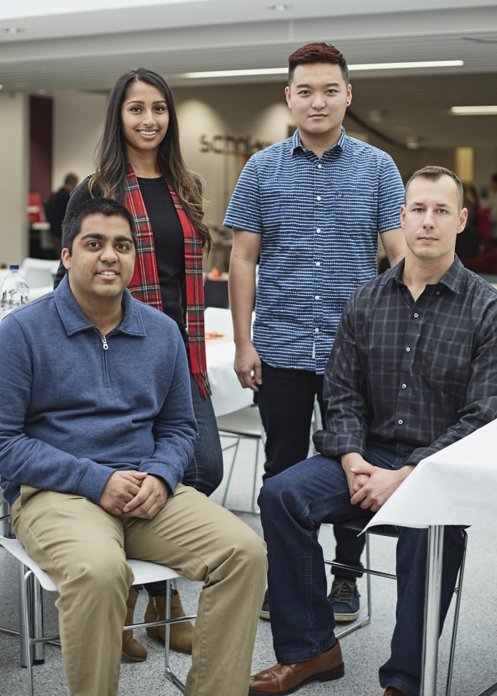 Left to right: Rahoul Patel, Madhura Mahapatra, Stanley Tsui, Jacob Kulyn