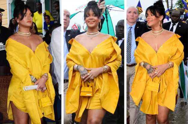 Rihanna went to the unveiling of Rihanna Drive in Barbados, which was also the day Barbados celebrated 51 years of independence. I don't want to be dramatic, but she looked like a ray of actual sunshine.