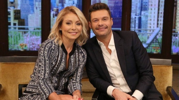 While Regis was strictly business, Kelly says her relationship with Ryan Seacrest is the total opposite — they text and hang out all the time when they're not filming.