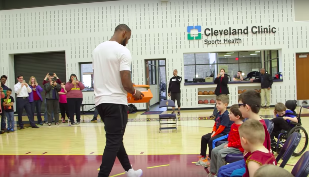 And he designed a shoe for kids with disabilities, then helped deliver some of them himself.