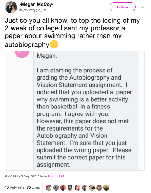 This girl, who royally fucked up her essay: