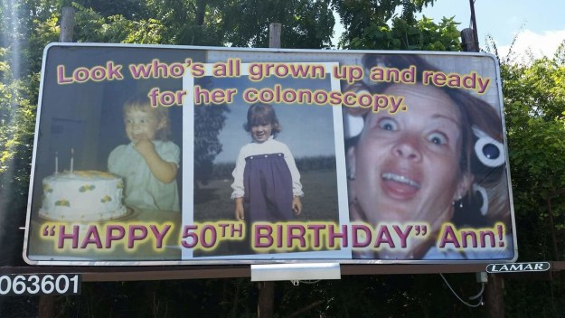This birthday billboard: