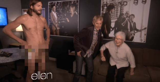 When Ashton Kutcher did this in front of Ellen's mom: