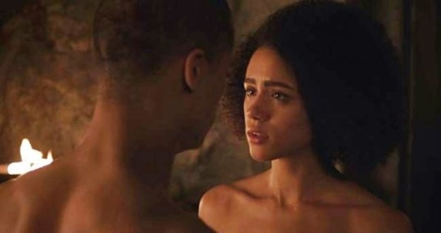 So tell us: Which fictional couple in a TV show or movie was your favorite of 2017? Maybe you watched a lot of Game of Thrones, and just can't get over Missandei and Grey Worm finally getting together.