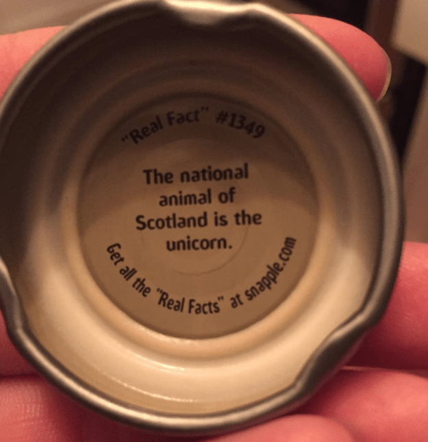 And finally, we bet you didn't know this about Scotland and unicorns: