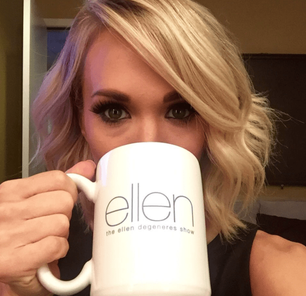 And when she sipped from an actual Ellen mug she got from being on the actual Ellen show definitely not like you.