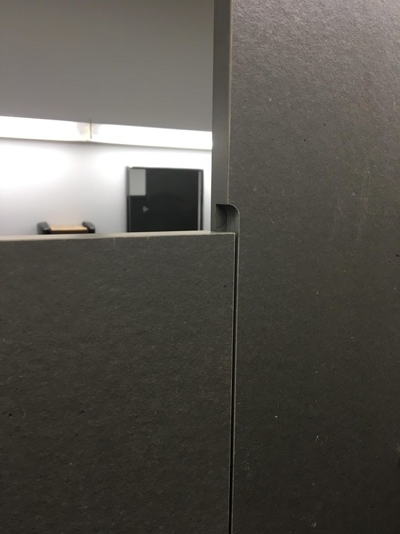 This bathroom stall eliminates that awkward gap in the door. Poop in peace!