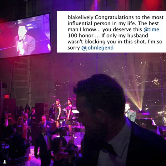 When Blake gave a shout-out to the most influential man in her life.