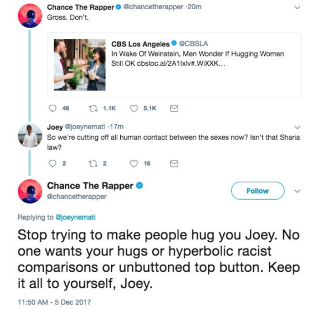When Chance The Rapper was having absolutely none of what Joey was selling: