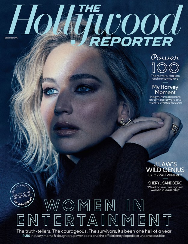 Jennifer Lawrence is on the cover of the Hollywood Reporter's December issue.