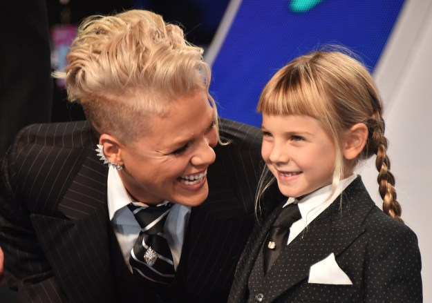 "For example, when Willow shared her concern that she is the ""ugliest girl"" she knows, Pink went home and made a Powerpoint presentation featuring non-conforming celebrities in the hope of teaching her daughter the importance of self-acceptance."