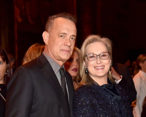 De Niro started his speech poking fun at Streep's costar and fellow acting award winner Tom Hanks.
